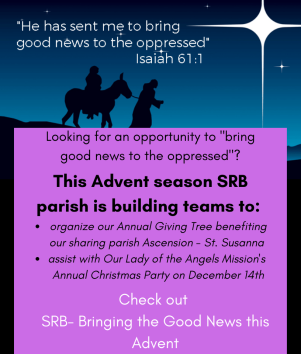 Advent Social Justice Opportunities