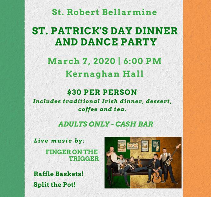 St Patricks Day Dinner 2020