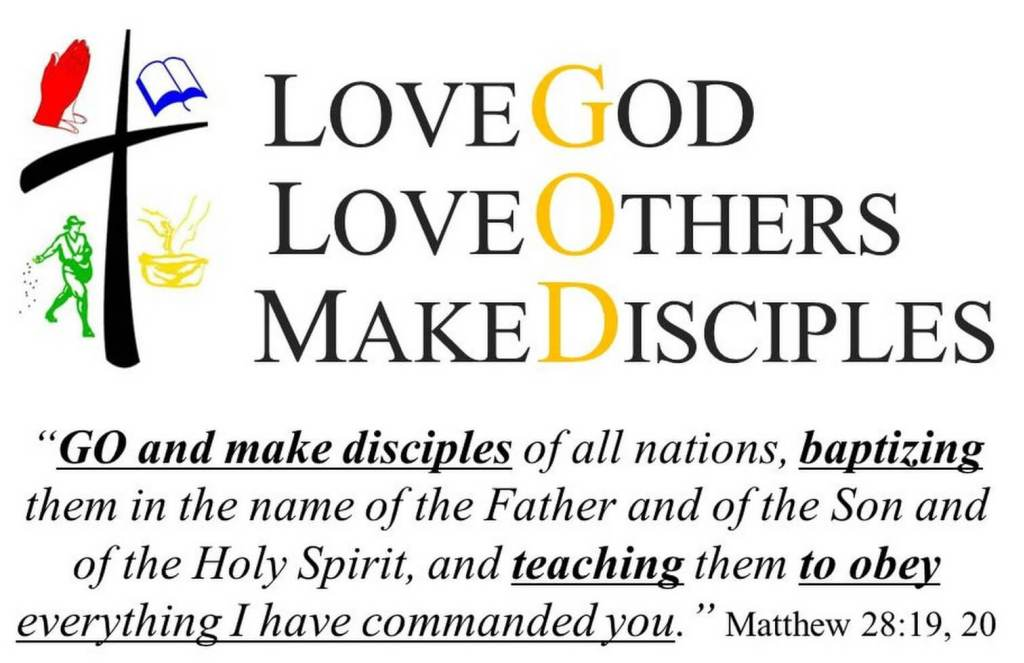 This image has an empty alt attribute; its file name is lovegodloveothers-makedisciples.jpg