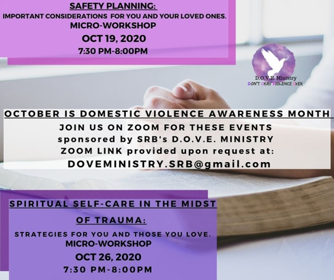 DOVE events October